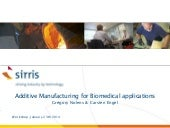 Additive manufacturing for biomedic...