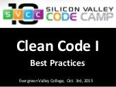 Clean Code I - Best Practices