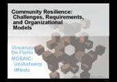 Community Resilience: Challenges, Requirements, and Organizational Models