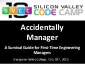 Accidentally Manager – A Survival Guide for First-Time Engineering Managers