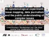 An Epistemological Experiment: Issue Mapping, Data Journalism and the Public Understanding of Complex Issues