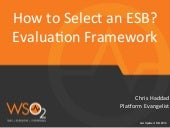 ESB Evaluation Framework
