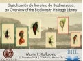 Digitalización de literatura de Biodiversidad: an Overview of the Biodiversity Heritage Library