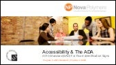 2014 Accessibility and the ADA CES ...