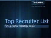 TheLadders Top Recruiter List: Top 200 Agency Recruiters for Q3 2014