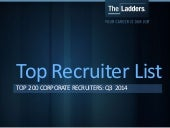TheLadders Top Recruiter List: Top 200 Corporate Recruiters for Q3 2014