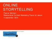 20140605 Online Storytelling in Travel and Leisure - Head Office NL