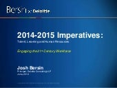 21st Century Talent Management: Imperatives for 2014 and 2015