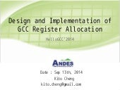 Design and Implementation of GCC Register Allocation