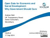 Open Data for Economic and Social Development: Why Government Should Care