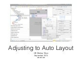 Adjusting to Auto Layout (Tutorial / Tips for iOS Auto Layout)