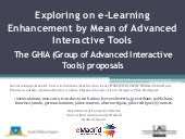 2014 10 23 (fie2014) emadrid uam exploring on e learning enhancement by mean of advanced interactive tools