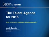 The New Model for Talent Management:  Agenda for 2015
