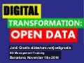 Digital transformation: open data