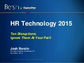 10 Tech Disruptions in HR for 2015