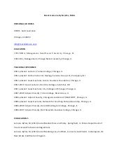 2014 Adjunct Faculty Resume of Mark...