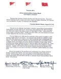 2014 African American Black History Month Tri-signed Letter
