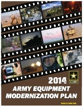 2014 Army Equipment Modernization Plan