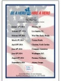 Announcing Be A Hero-Hire A Hero 2014 Veteran Career Events in Partnership with Birdies for the Brave/PGA Tour