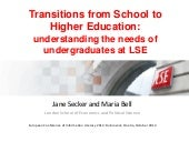Transitions from school to higher education: understanding the needs of undergraduates at LSE