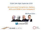Are you crazy? Using Scrum, Kanban, SAFe and DSDM in one Company!!!