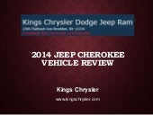 2014 Jeep Cherokee Vehicle Review