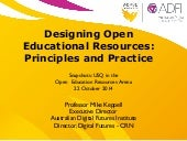 Designing Open Educational Resources
