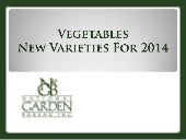 2014 NGB New Varieties Vegetables