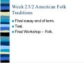 2014 north american folk traditions...