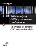 "Etude Strategy& et PwC ""CEOs, Governance, and Success"" (avril 2015)"