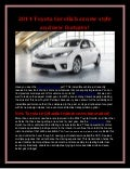 2014 Toyota Corolla has new style and new features!