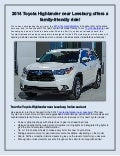 2014 Toyota Highlander near Leesburg offers a family-friendly ride