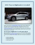 2014 Toyota Highlander revealed!