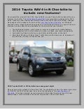 2014 Toyota RAV4 in N Charlotte to include new features!