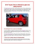 2014 Toyota Yaris in Orlando to gain new safety feature!
