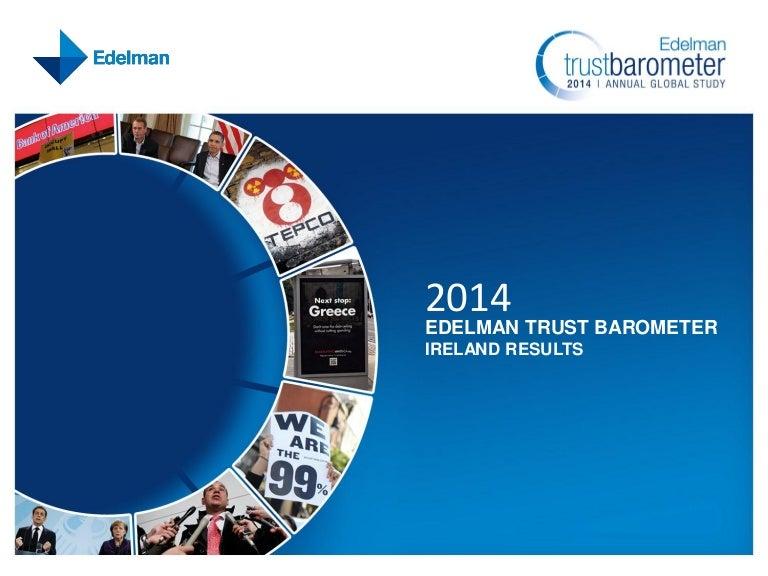 Edelman Ireland 2014 Trust Barometer