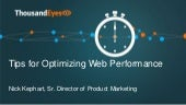 Tips for Optimizing Web Performance