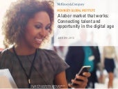 McKinsey Global Institute Report - A labor market that works: Connecting talent and opportunity in the digital age