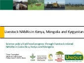 SBSTA Side Event presentation: Livestock NAMAs in Kenya, Mongolia, and Kyrgyzstan by Timm Tennigkeit, UNIQUE Forestry and Land Use
