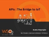 APIs: The Bridge to IoT