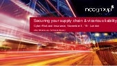 Securing your supply chain & vicarious liability (cyber security)