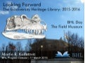 Looking Forward: The Biodiversity Heritage Library: 2015-2016