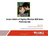 Seven habits of highly-effective B2B sales professionals