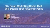 50+ Email Marketing Hacks That Will Double Your Response Rates