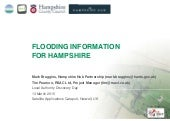 Flooding Information for Hampshire