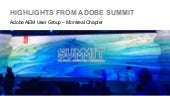 AEM/CQ Montreal User Group Meeting - March 25, 2015 - Takeaways from Adobe Summit 2015