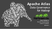 Apache Atlas. Data Governance for Hadoop. Strata London 2015