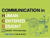Communication in Human-Centered Design