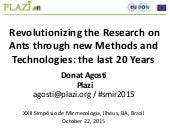 Revolutionizing the Research on Ants through new Methods and Technologies: the last 20 Years