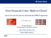 Next Financial Crisis: Made in China?